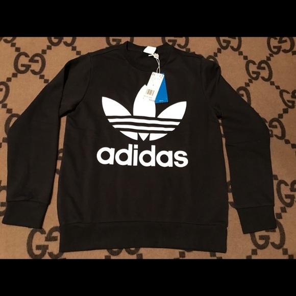 Adidas Youth L Trefoil Crew Sweatshirt